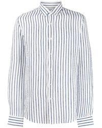 Brunello Cucinelli - Полосатая Рубашка С Заостренным Воротником - Lyst
