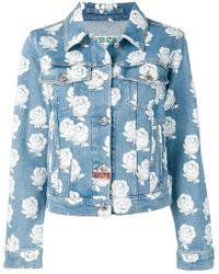 069f9984150e8 KENZO Rose Pattern Denim Jacket