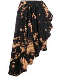 Marques'Almeida - Tie Dye Asymmetric Midi Skirt - Lyst