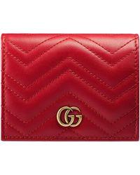 Gucci Кожаный Кошелек Для Карт - Красный