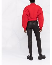 Givenchy ジップディテール レザーレギンス - ブラック