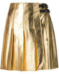 MSGM A-line Pleated Skirt - Metallic