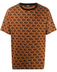 MCM モノグラム Tシャツ - ブラウン