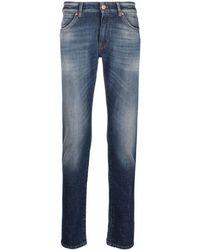 PT01 Washed Skinny-fit Jeans - Blue