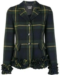 Boutique Moschino - Ruffle Fitted Blazer - Lyst