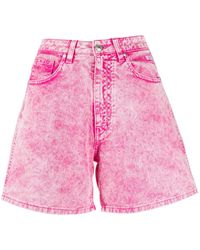MSGM Washed Effect Shorts - Pink