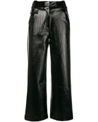 Three Floor High Waisted Flared Pants - Black