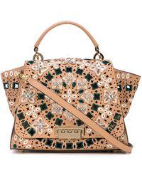 Zac Zac Posen Floral Applique Bag - Multicolour