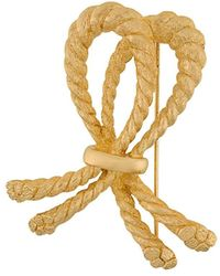 Dior Broche à design de corde - Métallisé