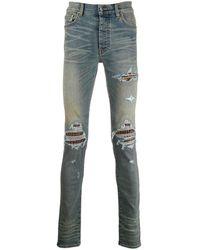 Amiri 'MX1' Skinny-Jeans im Distressed-Look - Blau