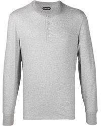 Tom Ford コットン ロングtシャツ - グレー