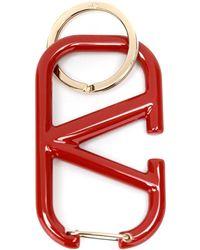 Valentino Garavani Vlogo Keyring - Red