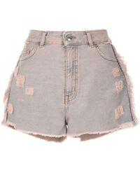 IRO Distressed Denim Shorts - Blue