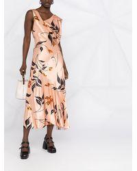 Marni Платье Макси С Цветочным Принтом - Розовый