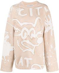 Acne Studios Толстовка City Rat С Эффектом Потертости - Естественный