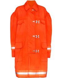 CALVIN KLEIN 205W39NYC Fireman コート - オレンジ