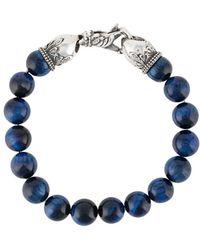Emanuele Bicocchi Stone-embellished Beaded Bracelet - Blue