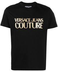 Versace Jeans Couture ロゴ Tシャツ - ブラック