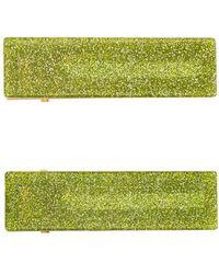 Valet Studio Set de dos horquillas para el pelo Clementine - Verde