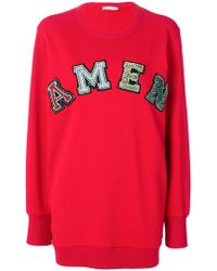 Amen - Logo Embroidered Sweater - Lyst