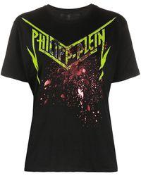Philipp Plein プリント Tシャツ - ブラック