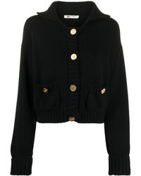 Ports 1961 Ribbed Trim Buttoned Cardigan - Black
