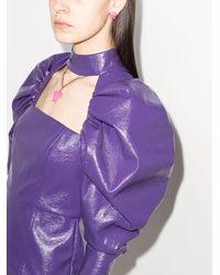 Versace Колье С Подвеской Medusa - Пурпурный
