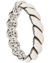 Gucci Bracelet gravé à design tressé - Métallisé