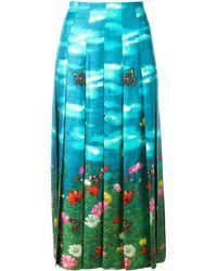 Gucci Garden Print Skirt - Blue