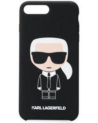 Karl Lagerfeld Ikonik Logo Print Iphone 8 Plus Case - Black