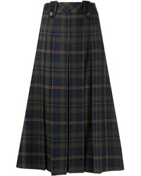 Mulberry Gia Tartan-print Skirt - Green