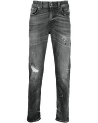 7 For All Mankind Straight-leg Pants - Gray