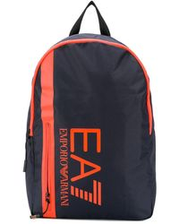 EA7 Printed Logo Bag - ブルー