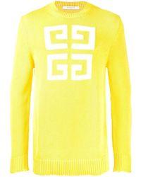 Givenchy ロゴ セーター - イエロー