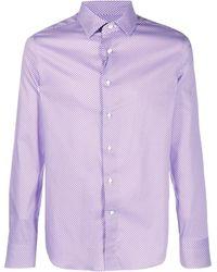 Canali ジオメトリックパターン シャツ - ピンク