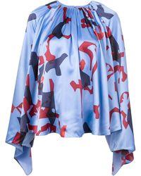 ROKSANDA Print Blouse - Blue