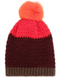 Etro - Beanie Hat With Bobble - Lyst