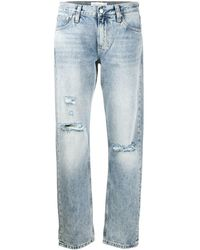 Calvin Klein ミッドライズ ストレートジーンズ - ブルー