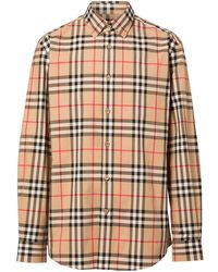 Burberry Vintage Check Cotton Poplin Shirt - Brown