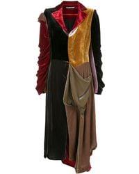 Aganovich Robe longue Missmach en velours - Rouge