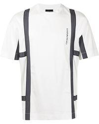 Emporio Armani ロゴ パネル Tシャツ - ホワイト