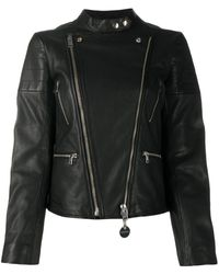 DIESEL L-mars Piercing-embellished Biker Jacket - Black