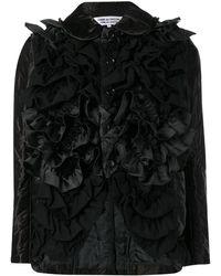 Comme des Garçons Fitted Ruffled Jacket - Black
