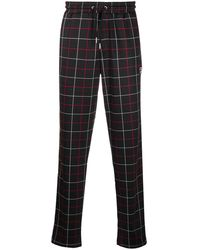 Fila Grid-print Track Trousers - Black