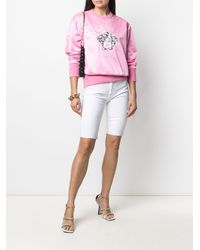 Versace Толстовка С Вышивкой Medusa И Круглым Вырезом - Розовый
