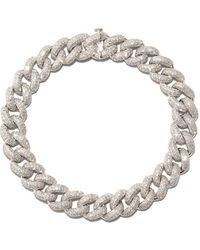 SHAY Bracelet en or 18ct serti de diamants - Blanc