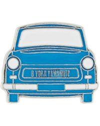 Yohji Yamamoto Car Embellished Brooch - Blue
