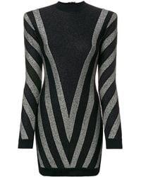 Balmain ハイネック ドレス - ブラック