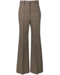 Victoria Beckham - Pantalones anchos de tweed - Lyst