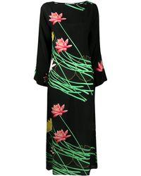 BERNADETTE プリント ドレス - ブラック